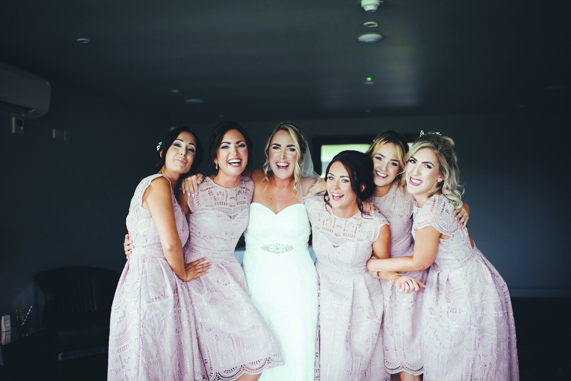 The Bride and Bridesmaids enjoying the atmosphere at All Saints Hotel wedding venue